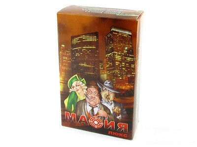Mafia LUX Russian мафия игра detective psychological role game 20 playing cards