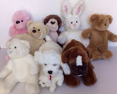 Retired Build a Bear Lot of 8 Plush Animals