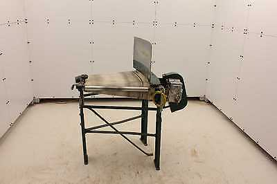 "Alvey 22-1/2 Degree Angle Belt Conveyor Reliance 3/4 HP Motor 24"" x 22"" Wide"