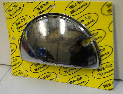 "United Pacific # 10477 5 3/4"" Round Headlight Shield Pair American Hot Rod"