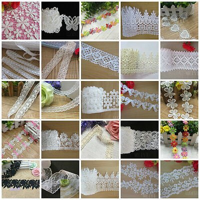 Vintage Embroidered Lace Trim Ribbon Crochet Applique DIY Trimming Sewing Craft