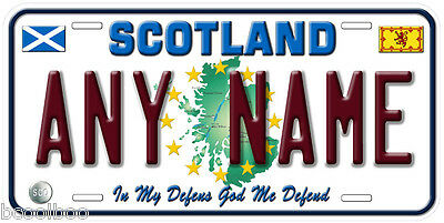 Scotland Any Name Personalized Auto Tag Novelty Car License Plate B01