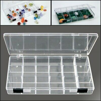 Rock Collection Box with 18 Compartments