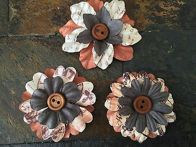 Flower Rustic Fall Autumn Barn Wedding Bridal Bouquet Cake Shower Accent Hair