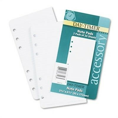 Lined Note Pads for Organizer, 3-3/4 x 6-3/4, 48 Sheets/Pack