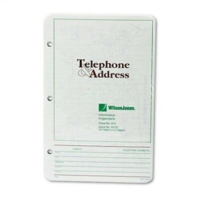 Looseleaf Phone/Address Book Refill, 5-1/2 x 8-1/2, 80 Sheets/Pack