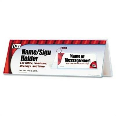 Sign Name Holder, Blank, 11 x 4, Clear