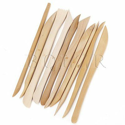 10PCS Carving Tools Wood Clay Sculpture Knife Hand Polished