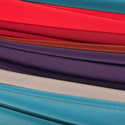 """ITY Fabric Polyester Lycra Knit Jersey 2 way Spandex Stretch 58"""" BTY All Colors"""