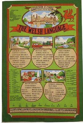 Ulster Linen Company 100% Cotton Tea Towel Greetings From Wales Welsh Language