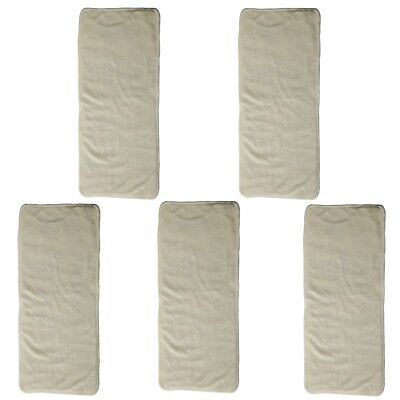 5 Newborn Cloth Diaper Nappies Inserts Liner Bamboo Microfiber Reusable Washable