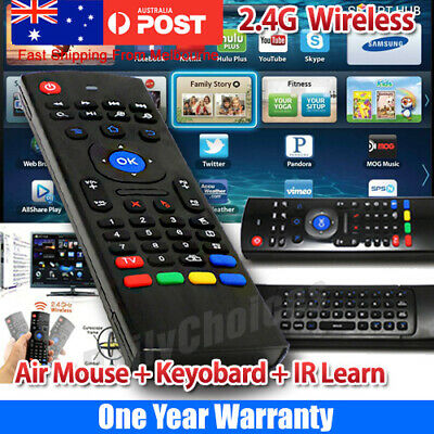 2.4G Wireless Remote Control Air Mouse Keyboard IR Learn For PC Android TV Box