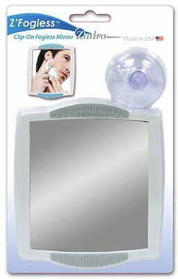 ZADRO Z300 Fogless Suction Cup Mountable Clip-On Shower Shaving Travel Mirror