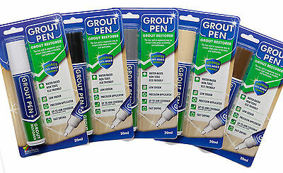 Large Grout Pen Revives & Protects Stained Tile Grout. Available In 6 Colours.