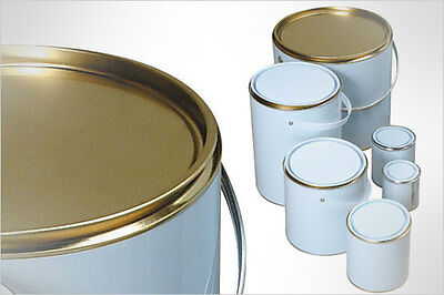 5 X EMPTY PAINT TINS LACQUERED CAN - SUITABLE FOR WATERBASED PAINTS - 125ml