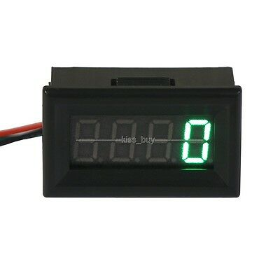 Digital LED Engine Motor Tachometer RPM Speed Measure Tester Meter 12v 24v green
