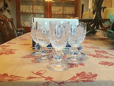 Waterford Crystal Colleen Liqueur Glasses X 6 - Pristine Condition Boxed