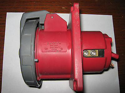 Hubbell Receptacle, 3100R7W, 100 Amp, 480  VAC,  Used
