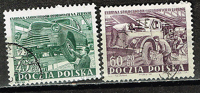 Polan Car Industry stamps 1953