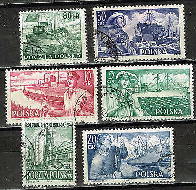 Polan Ships Industry stamps 1955
