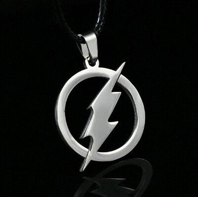 The Flash Pendant Comic Book Hero Chain Metal Stainless Steel DC ++ Necklace