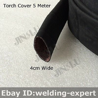 Welding Torch Cloth Cable Cover Rubber 5M for Tig Torch TIG-200P WP 9 17 18 26