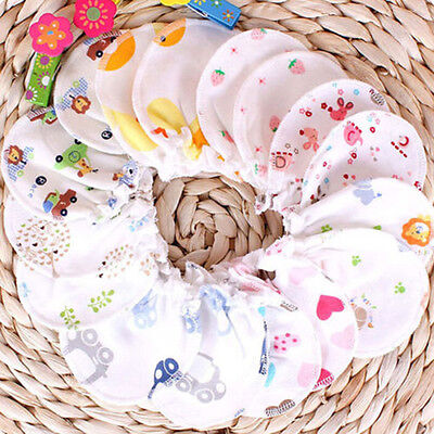 Baby Soft Cotton Newborn Infant Anti Scratch Mittens Gloves Boy Girl Handguard