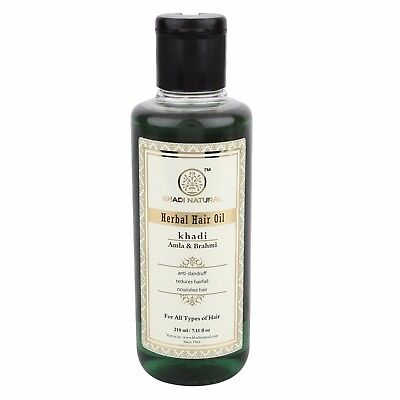 Khadi Natural Amla & Brahmi Hair Oil Healthy Hairs Soft And Smooth Hair 210ml