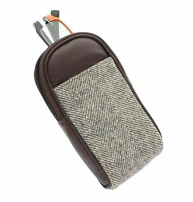 Mala Leather ABERTWEED Collection Leather & Tweed Spectacles Case 572_40