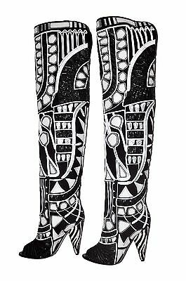 6520d430e52  7K NEW TOM FORD 2D Floral Embroidered Over-the-Knee Boots 37 - 7 ...
