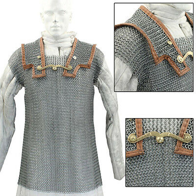 Lorica Hamata Roman Knight Medieval 16g Steel Chainmail Armor Extra Large