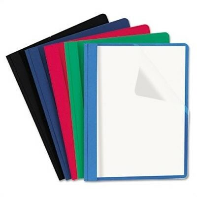 Clear Front Report Cover Tang Fasteners Letter Size Assorted Colors 25/Box 2PK