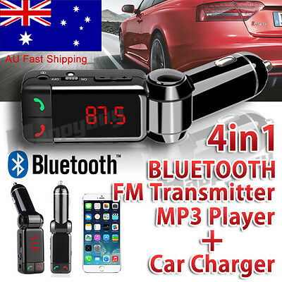 4 in 1 Bluetooth Car Kit FM Transmitter Car Charger MP3 Player USB for iPhone 6S