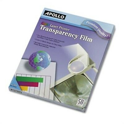 Color Laser Printer/Copier Transparency Film, Letter, Clear, 50/Box  2 Pack