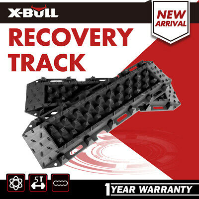 Pair Recovery Tracks Sand Tracks Black Mud Snow Trax Car ATV 4WD X-BULL