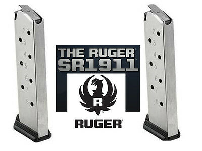 10 Pack Ruger SR1911 AUTHENTIC Magazine 8 Round Mag Magazines SR 1911 .45 45