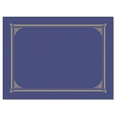 Certificate/Document Cover, 12-1/2 x 9-3/4, Metallic Blue, 6/Pack - x 2