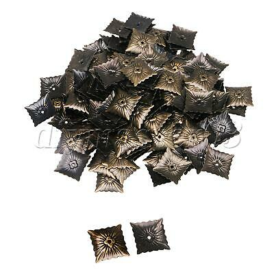 100pcs Bronze Antik Quadrat Polstern?gel Tacks Studs Nagel Vintage