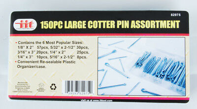 IIT 82975 150-Piece Large Cotter Pin Assortment in Snap-lock Case
