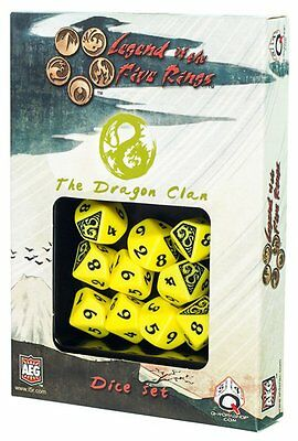 Q-Workshop Legend of the 5 Rings d10 Dice Set (10) Dragon Clan SL5R58
