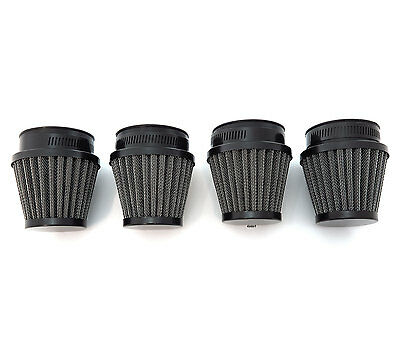 Black Air Filter Pod 42mm Set of 4 Honda Kawasaki Motorcycle CB650 1979-1980