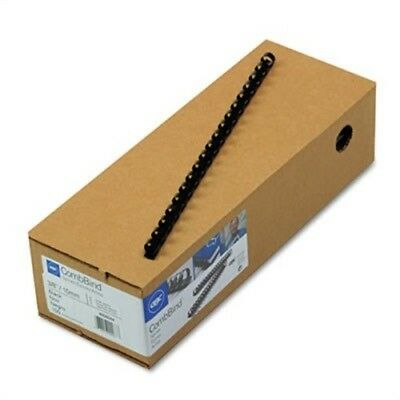 "CombBind Standard Spines, 3/8"" Diameter, 55 Sheet Capacity, Black, 100/Box"