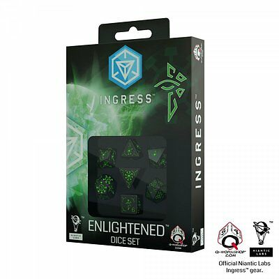 Q-Workshop Ingress Dice Set (7 Polyhedral) Enlightened SIEN21