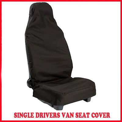 Peugeot Expert 2007 On 1.6Hdi Van-SINGLE DRIVERS VAN SEAT COVER BLACK WATERPROOF