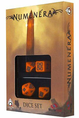 Q-Workshop Numenera Dice Set (4 Polyhedral) Orange SNUM66