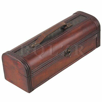 Retro Style Exquisite Wine Wood Case Holder Carrier Single Bottle Storage Box