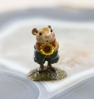 Retired Wee Forest Folk FB-1 - Woodchuck Miniature Figurine