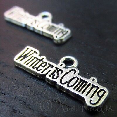 Winter Is Coming Wholesale Game Of Thrones Silver Charms C3156 - 10, 20 Or 50PCs
