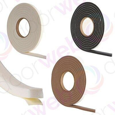 FOAM WEATHER STRIP Draught Excluder Door Draft Window Frame EXTRA THICK 7 Metres
