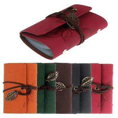 20 Slots Fashion Practical Leather Business Credit ID Card Holder Case Wallet